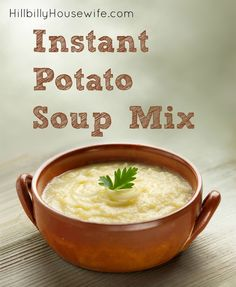 A great mix to have on hand for instant potato soup mix. Just add hot water for … A great mix to have on hand for instant potato soup mix. Just add hot water for a quick and filling soup. Instant Potato Soup Recipe, Potato Flakes Recipe, Homemade Potato Soup, Potato Onion Soup Mix Recipe, Instant Recipes, Mashed Potato Soup, Instant Mashed Potatoes, Creamy Potato Soup, Potato Rice