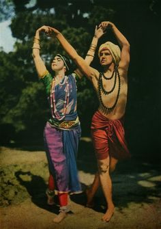 """johnrambow: """" Two entertainers perform an East Indian dance in April Photograph by Franklin Price Knott, National Geographic """" Dance Oriental, Dance Magazine, Vintage Dance, National Geographic Society, Daguerreotype, Belly Dance Costumes, Indian Summer, Animals Images, North Africa"""