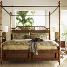 Tommy Bahama Home Island Estate West Indies Four Poster Bed & Reviews | Wayfair