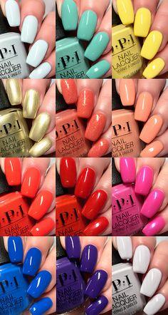 Birthday Board, Birthday List, Opi Nail Polish, Gel Nails, Nail Art Printer, Blue Acrylic Nails, Nail Polish Collection, Nail Colors, Beauty Makeup
