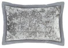 Catherine Lansfield Crushed Velvet Pair of Pillow Shams in Silver Velvet Bedroom, Velvet Duvet, Chic Bedding, Bedding Sets, Pillow Shams, Bed Pillows, Blue Cushions, Crushed Velvet, Bedding Collections