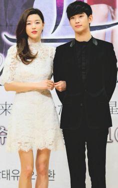 "Jun Ji Hyun y Kim Soo Hyun en ""My Love From Another Star"" Press Conference"