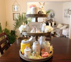 How to Style A Tiered Tray • Glittered Lovely