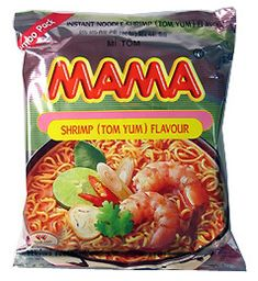 Tom Yum Shrimp Mama Noodles is the most popular flavor of the many types of Mama brand Oriental-Style Instant Noodles. TempleofThai.com