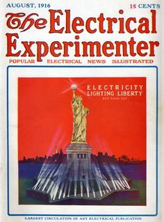 poster reproduction. Modern Electrics 1912 Vintage magazine cover