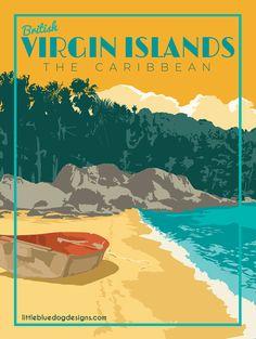 Copyright 2020 Little Blue Dog Designs Bagan, Grand Cayman, Philippines, Montego Bay Jamaica, Rest Of The World, British Virgin Islands, Vintage Travel Posters, Dog Design, North America