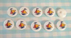レトロポップボタンヨット船検宇山あゆみハンドメイド雅姫 Handmade button ¥500yen 〆04月15日