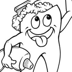 4 Free Printable Dental Coloring Pages For Kids At B
