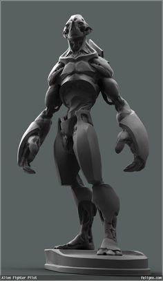 Huge grey robot