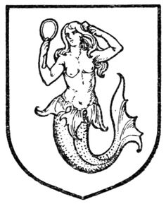 Fig. 434.—Mermaid. Date 	1909 Source 	A Complete Guide to Heraldry. Author 	 [show]Arthur Charles Fox-Davies oktouse