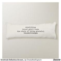 Gratitude Definition Accent Pillow