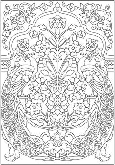Creative Haven Peacock Designs Coloring Book, Dover Publications