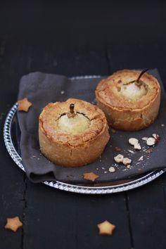 Pear and hazelnut tarts
