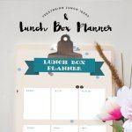Vegetarian Lunch Ideas & Lunch Box Planner
