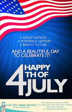 The team at Center for Implant Dentistry wishes you and your family a safe and happy 4th of July  #happy4thofjuly