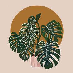 Art And Illustration, Illustrations, Minimalist Wallpaper, Minimalist Art, Cute Patterns Wallpaper, Retro Wallpaper, Iphone Wallpaper, Abstract Line Art, Plant Art