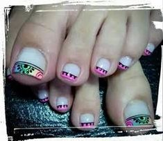 Nails Acrilico Juveniles Blancas 69 Ideas For 2019 Pedicure Nail Art, Toe Nail Art, Toe Nails, Acrylic Nails, Feet Nail Design, Toe Nail Designs, Pink Black Nails, Henna Nails, Cute Pedicures