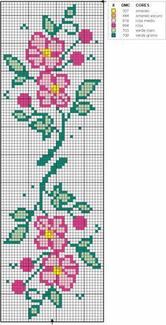 Free Cross Stitch Charts, Cross Stitch Bookmarks, Cross Stitch Borders, Cross Stitch Rose, Cross Stitch Flowers, Counted Cross Stitch Patterns, Cross Stitch Designs, Cross Stitching, Cross Stitch Embroidery