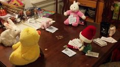 Poker night. Elf cheats and takes all.