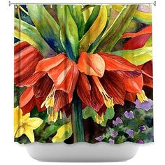 Buy Shower Curtain - DiaNoche Designs - Fritillaria by DiaNoche Designs on OpenSky