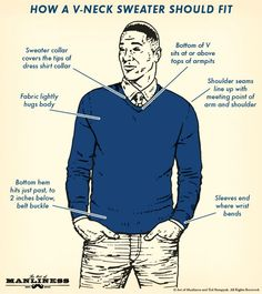 I don't know about the v neck sweater with a shirt and tie- but I think a v neck sweater worn casually with jeans can be a nice look. And a soft sweater makes a guy look like someone you'd want to cuddle up to. Burgundy Chinos, Sweater Outfits, Men Sweater, Men's V Neck Sweaters, Art Of Manliness, Mens Fashion Sweaters, Cold Weather Fashion, Sharp Dressed Man, Well Dressed