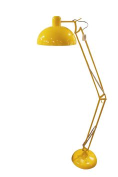 Gulvlampe XXL gul - Kremmerhuset
