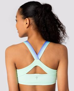 Luxtreme® fabric is sweat–wicking to help keep you dry and comfortable from dance class to a beach afternoon. | Sun Sweat Sports Bra
