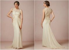 Lace Wedding Gown Open Back
