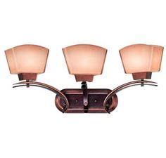 Kenroy Home Oslo 3-Light Bath Vanity in Burnished Copper