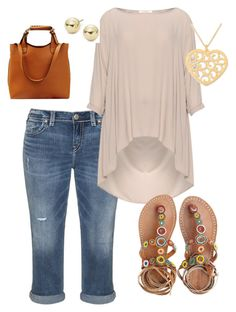 """""""Weekend jeans"""" by faleshamorgan on Polyvore featuring Silver Jeans Co., Mat, Laidback London, NOVICA and Lord & Taylor"""