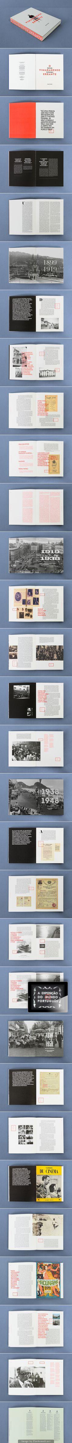 "Interactive printing Book ""O Vimaranense Errante"" - Atelier Martino & Jana #book #layout"