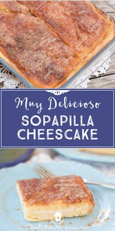 SO easy to make and absolutely delicious! Sopapilla cheesecake is definitely one of my go-to recipes, especially when I don't have much time on my hands to whip up a dessert! Just a few ingredients and a few steps, anyone can make this recipe, and EVERYONE who eats it will love it! Serve it hot or cold - it's delicious both ways! Click for the recipe!