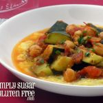 Recipe for Gluten Free, Sugar Free Recipe for Stewed Zucchini & Chickpeas with Oven Baked Polenta