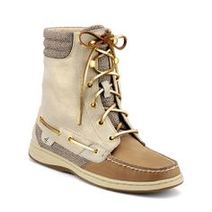 Sperry Top-Sider Women's Hikerfish Boot / Linen Leather / Sparkle Suede