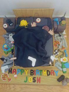 Messy Bedroom Birthday Cake