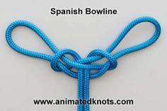Tutorial on Spanish Bowline Knot Tying