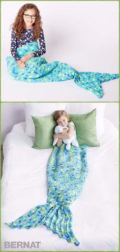 Crochet My Mermaid Snuggle Sack Free Pattern - Crochet Snuggle Sack & Cocoon Free Patterns