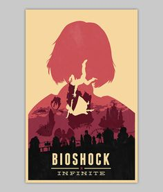 Bioshock Infinite Elizabeth poster by WilliamHenryDesign on Etsy, $20.00