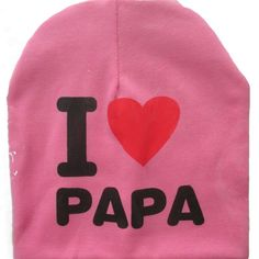 Spring Autumn Winter Baby Beanie Hat New Born baby Photography Props Children Boys Girls Knitted I Love Papa Mama Baby Caps H774