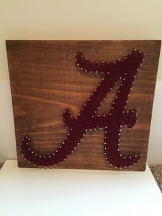 University of Alabama nail thread art Etsy College football Roll Tide BAMA