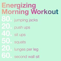 energizing morning workout