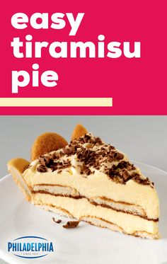 Easy Tiramisu Pie – This delectable dessert sports layers of creamy pudding an. - Easy Tiramisu Pie – This delectable dessert sports layers of creamy pudding and delicate vanilla - Cupcakes, Cupcake Cakes, Easy Desserts, Delicious Desserts, Sweet Recipes, Cake Recipes, Pudding Recipes, Mousse, Pie Dessert