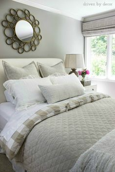 Great post with five simple steps to making a beautiful bed - even I can do this!