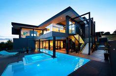 Spanish Mediterranean Architecture modern home Architecture Durable, Architecture Design, Residential Architecture, Style At Home, Modern Exterior, Exterior Design, Modern House Design, Loft Design, Home Fashion