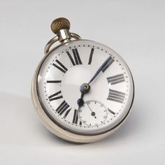 Original Swiss silver and glass ball clock with hallmarks, circa 1910. $2,500