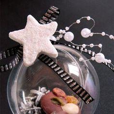 Venta de Adornos estrella purpurina plata (12)