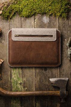MacBook 12 inch / MacBook air hard case / by CrazyHorseCraftCom