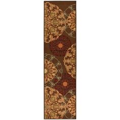 Ottomanson Ottohome Collection Contemporary Damask Design Area Rugs and Runners with Non-Skid (Non-Slip) Rubber Backing Available In Multiple Colors And Sizes, Brown