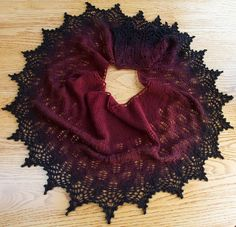 Ravelry: Cloud Illusions Shawl. Simply beautiful shawl. Love the shifting colors..