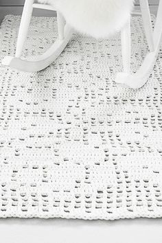 Novita lace patterns, crochet carpet made with Novita Tuubi yarn - photo only for inspiration. Hallway Carpet Runners, Best Carpet, Diy Carpet, Carpet Ideas, Crochet Carpet, Knit Crochet, Carpet Squares, Painting Carpet, Rugs